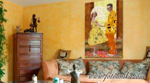 ideas para decorar, gustav klimt,retrato pareja,regalo dia de los enamorados,regalo original,regalo unico,regalos originales,cuadros oleo
