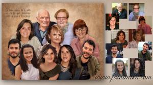 oleo, oleografia, arte digital, familia, retrato familiar, cuadro, cuadro personalizado, lamina, homenaje, recuerdo, arbol genealogico, generacion, generaciones, bodas de oro, boda, enlace, regalo, regalo especial