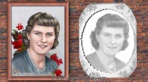 dibujo oleo mujer de foto antigua para regalar