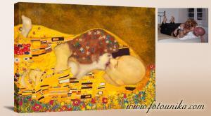 El regalo inspirado en Gustav Klimt, original idea de regalo,ideas decoración,oleo