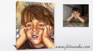 Idea de regalo original,ideas para decorar,cuadro oleo del retrato de quien mas quieres