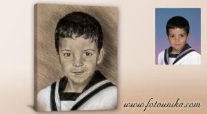 regalo comunion,regalo,pintura,carboncillo,retrato