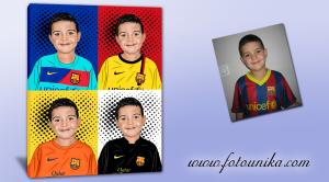 ESPARZA G.G, Barça,FCB,Barcelona,cuadro personalizado,retrato pop-art,futbol,regalo original,equipación-futbol