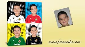 Real-Madrid,Merengues,cuadro personalizado,retrato pop-art,futbol,regalo original,equipación-futbol