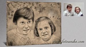 retrato carboncillo,sorpresas,regala regalos,el regalo,cuadros,emotivo,portada album,ideas,ideas para decorar