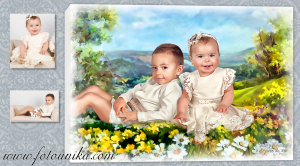 oleo, oleografia, cuadro, cuadro personalizado, lamina, regalo, regalo de bodas, homenaje, aniversario, niño, niña, niños, recuerdo, el regalo