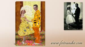 cuadro-personalizado,regalo-original,regalos-originales,el-regalo,klimt,ideas-para-decorar,regalos-personalizados
