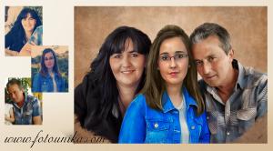 oleo, oleografia, lamina, cuadro, cuadro personalizado, regalo, el regalo, original, unico, diferente, dia del padre, dia de la madre, homenaje, familia, recuerdo