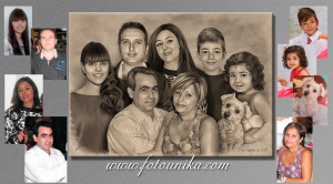 carboncillo, cuadro, cuadro personalizado, lamina, retrato, retrato familiar, familia, regalo, el regalo, regalo de bodas, detalles para los padres, obsequio, original, homenaje, arte digital, mascota, perro