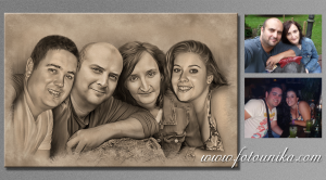 boda, regalo, boda, detalle boda, carboncillo, carboncillo digital, cuadro, lamina, cuadro personalizado, familia, original, unico, diferente, homenaje