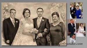 detalle padres de dibujo estilo carboncillo regalo el dia de bodas de los hijos