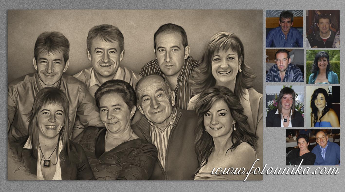 boda, bodas, regalo de bodas, detalles para los padres, detalles bodas, detalles familia, retrato familiar, retrato, carboncillo, cuadro, cuadro personalizado, lamina, familia, regalo, el regalo, obsequio, original, homenaje, arte digital