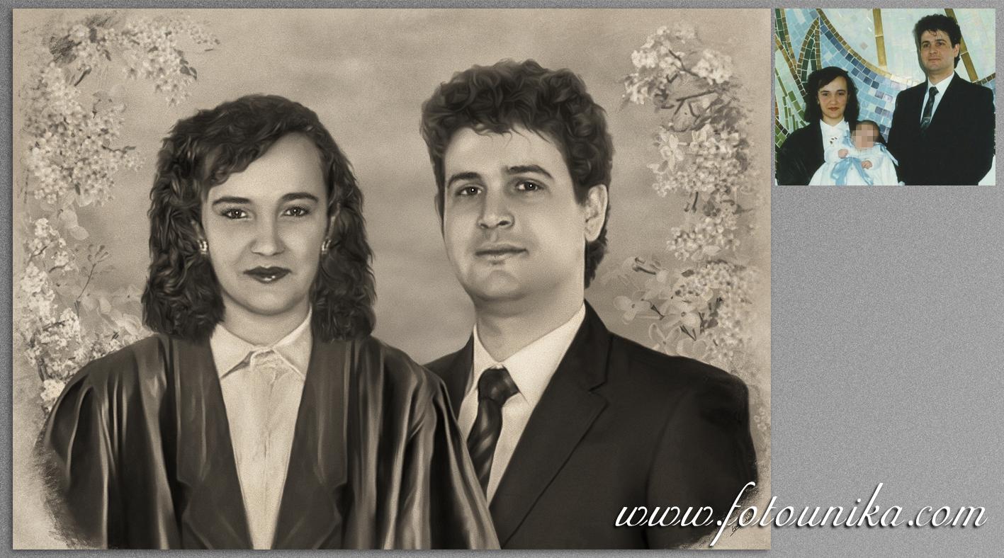 boda, regalo de bodas, regalo para los padres, detalles para los padres, padres, suegros, carboncillo, dibujo a lapiz, cuadro, cuadro personalizado, recuerdo, obsequio, retrato familiar, homenaje, emotivo, original, arte digital, hecho a mano