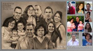 boda, regalo de bodas, regalo para los padres, detalles, detalles para los padres, padres, suegros, carboncillo, dibujo a lapiz, cuadro, cuadro personalizado, recuerdo, obsequio, retrato, retrato familiar, homenaje, emotivo, original, arte digital, hecho a mano