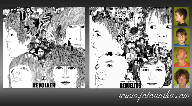 fotomontaje, montaje, sorpresa, regalo, cuadro, cuadros, ideas, ideas para decorar, BEATLES, THE BEATLES, with the beatles, revolver, homenaje, original, portada, disco, cd, longplay, clasico