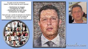 multifotos o mosaico caballero