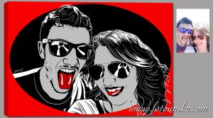 dia de los enamorados, san valentin, enamorados, regalo, regalos, regalo original, regalos originales, cuadros personalizados, foto a comic, fotografia a comic, ideas para decorar