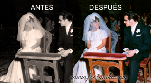 Coloreado de fotos antiguas,restauración de fotografías,reparación de color