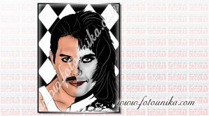 Si eres fan de Queen, regala este cuadro pop art de su vocalista Freddie Mercury. Una sorpresa muy especial y única para cumpleaños, Navidad y estas fiestas o porque sí, con un dibujo exclusivo y único realizado por fotounika.com