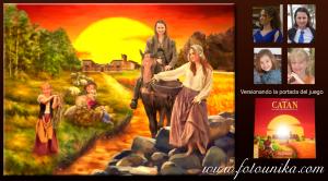 catan, juego catan, juego de mesa, cuadro, cuadro personalizado, lamina, medieval, atardecer, oleo, oleografia, retrato familiar, regalo, el regalo, versión, versión personalizada, unico, original, diferente, arte digital