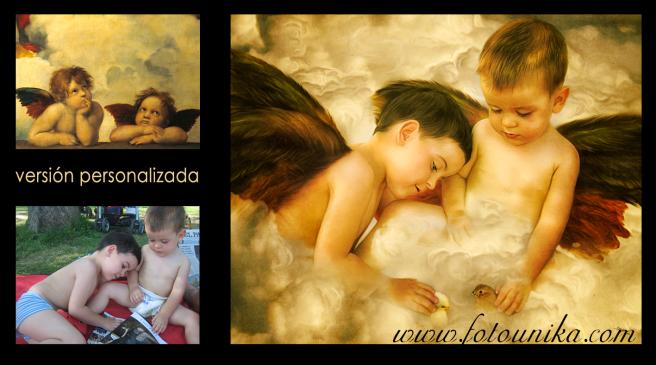 REGALO ORIGINAL VERSION PERSONALIZADA RAFAEL SANZIO ANGELES