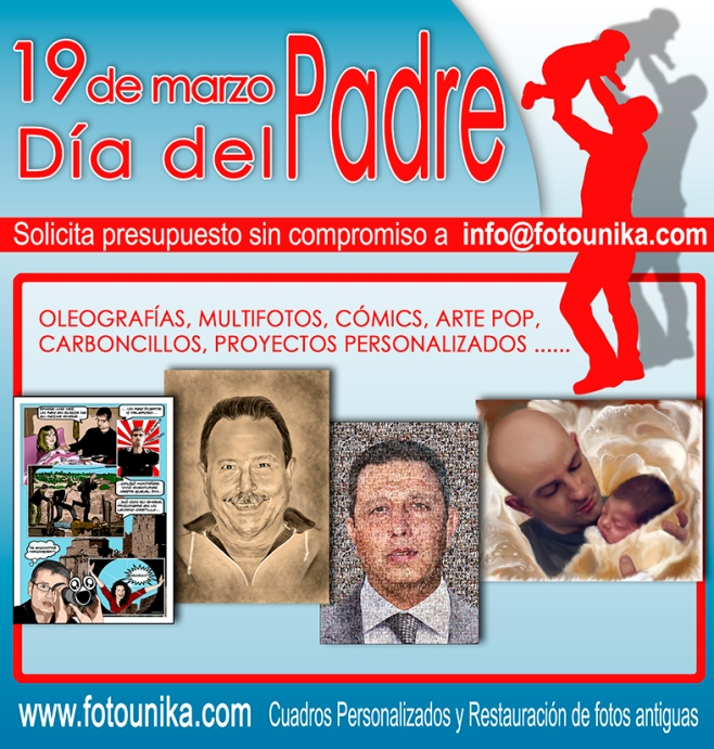 REGALO DIA DEL PADRE, REGALOS DIA DEL PADRE, REGALO ORIGINAL, REGALO ESPECIAL, REGALOS ESPECIALES, EL REGALO, REGALO DE BODA, REGALO DE BOBAS, REGALO DE ANIVERSARIO, REGALOS PARA ANIVERSARIOS, CUADRO, CUADROS PERSONALIZADOS, OLEO, OLEOS, CARBONCILLO, CARBONCILLOS, POP ART, COMIC, COMICS, REGALO PARA NOVIA, REGALOS PARA NOVIAS, REGALOS PARA NOVIOS, REGALOS PARA LOS SUEGROS, RESTAURACION DE FOTOS ANTIGUAS, RESTAURACIONES DE FOTOS ANTIGUAS, REGALOS PARA LOS PADRES, REGALOS PARA LAS MADRES, REGALOS DIA DE LA MADRE,