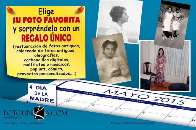 PRIMER DOMINGO DE MAYO, DIA DE LA MADRE,  MAYO, REGALO ESPECIAL, REGALOS ESPECIALES, REGALO ORIGINAL, REGALOS ORIGINALES, CUADRO PERSONALIZADO, CUADROS PERSONALIZADOS, OLEO, OLEOS, OLEOGRAFIA, OLEOGRAFIAS, CARBONCILLO, CARBONCILLOS, ARTE POP, POP ART, MULTIFOTOS, MOSAICO, FOTO A COMIC, FOTOS A COMICS, RESTAURACION DE FOTOS ANTIGUAS, RESTAURACIONES DE FOTOS ANTIGUAS, HOMENAJE, HOMENAJES, HOMENAJE ESPECIAL, HOMENAJES ESPECIALES