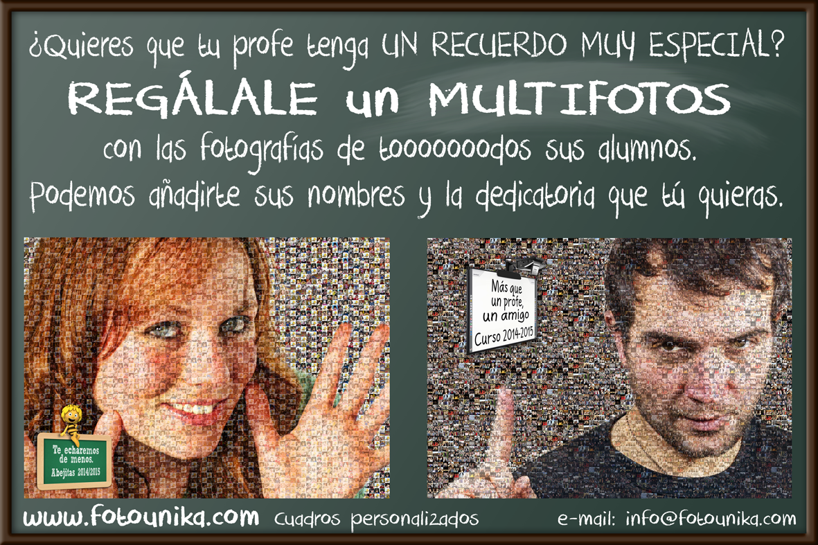 MULTIFOTOS, MOSAICO, REGALO, EL REGALO, REGALO ESPECIAL, REGALOS ESPECIALES, HOMENAJE, HOMENAJES, HOMENAJE ESPECIAL, HOMENAJES ESPECIALES, REGALO ORIGINAL, REGALOS ORIGINALES, REGALO ECONOMICO, REGALOS ECONOMICOS, CUADRO, CUADROS, CUADROS PERSONALIZADOS, CUADRO PERSONALIZADO, LAMINA, LAMINAS, LAMINA PERSONALIZADA, LAMINAS PERSONALIZADAS, REGALOS PARA GRUPOS, REGALO PARA GRUPOS, REGALO EN GRUPO, REGALOS EN GRUPO