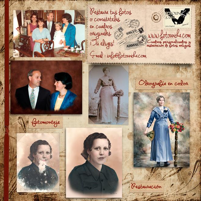 restauracion, restauracion de fotos antiguas, coloreado, coloreado de fotos antiguas, fotomontaje, collage, sustitución de fondos, regalo, el regalo, original, unico, diferente, recuerdo, homenaje, decorar, restaurar, colorear