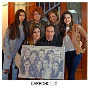 carboncillo, carboncillo digital, protagonista, protagonistas, novios, novia, novio, regalo, el regalo, cuadro, cuadro personalizado, nuestros protagonistas, recuerdo