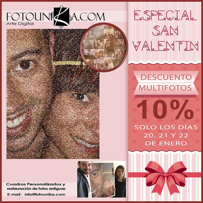 san valentin, dia de los enamorados, 14 de febrero, multifotos, mosaico, collage, lamina, cuadro, cuadro personalizado, poster, pareja, aniversario, original, unico, diferente, regalo, el regalo, homenaje, amor