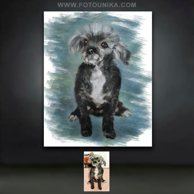 4 octubre, dia mundial animales, animal, animales, mascota, perro, perros, homenaje, cuadro, cuadro personalizado, lamina, oleo, oleografia, el regalo, regalo, original, unico