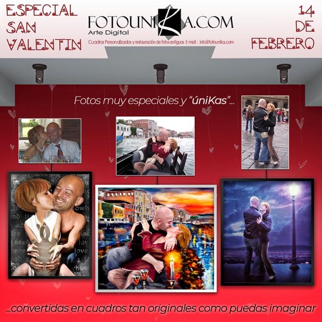 regalo original el 14 de febrero, dia de los enamorados y San Valentin